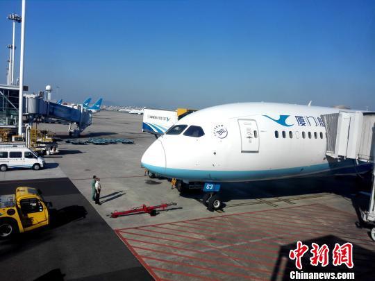 执飞厦门-深圳-西雅图航线的厦航波音客机