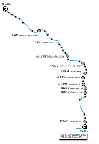 6号线站点示意图 制图杨仕成