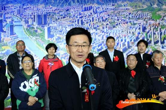 張家口市長馬宇駿宣佈展覽開幕。長城網 張世豪 攝