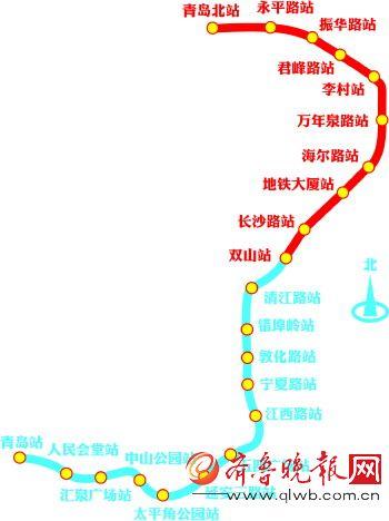 青岛地铁3号线南段开始模拟试运营图片