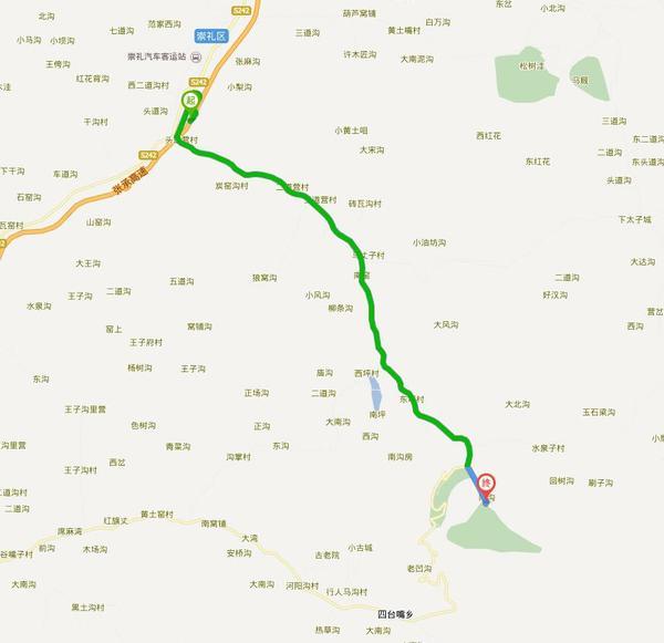 火车乘车路线:从北京南站乘火车到张家口火车站