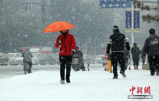 11月7日,立冬日,辽宁沈阳降下今年冬天第一场雪。 中新社发黄金昆摄图片来源:CNSPHOTO