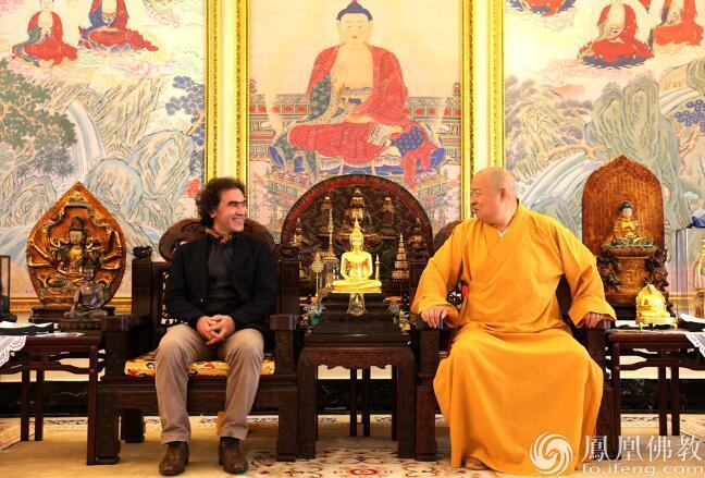 联合国教科文组织和平大使阿姆里一行访问弘法寺