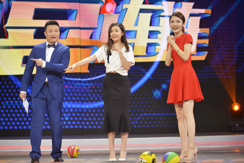 热播体育节目的刘语熙节目现场为大家讲述
