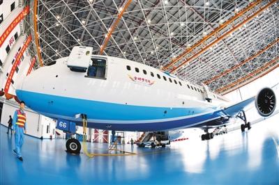 厦门航空在福州长乐基地举行厦航福州新机