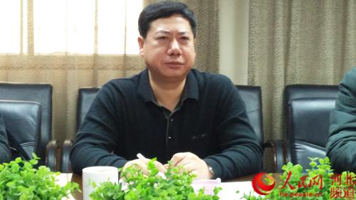 图为河北省扶贫基金会秘书长李士宏。李美玲 摄