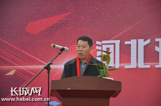 河北亚博农业科技有限公司董事长刘立忠致欢迎词。长城网 王潇 摄