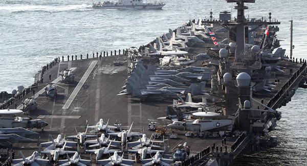 日官员声称:美航母赴朝鲜半岛途中遭中俄跟踪