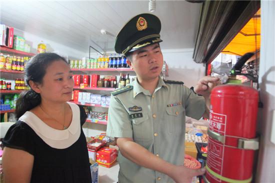 蕉城消防大队与培英社区开展联合安全巡查