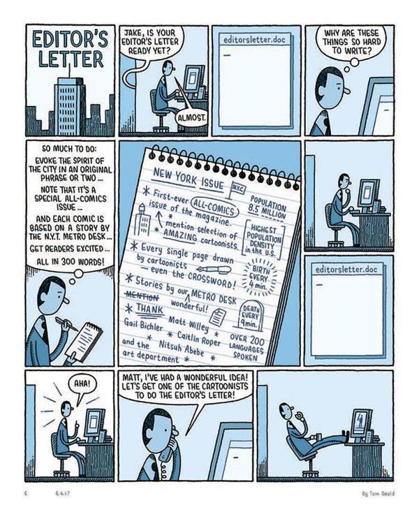 整本杂志都是漫画,11 个插画师手绘了一本纽约人的故事