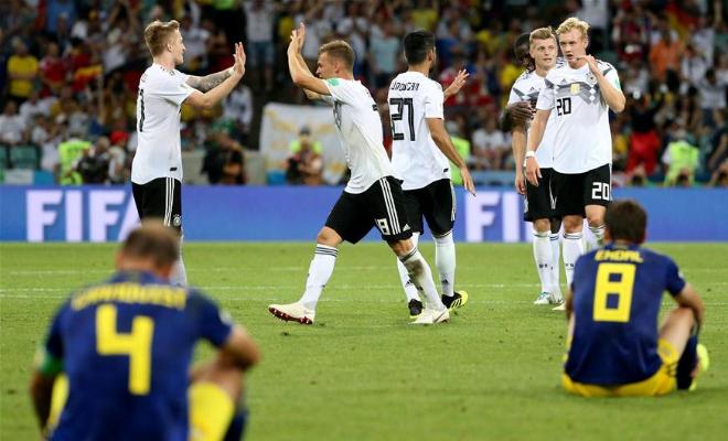 【世界杯】F组:德国队胜瑞典队