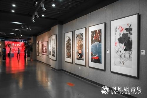 全国书画名家作品邀请展青岛西海岸开幕 百余名家携150件力作参展