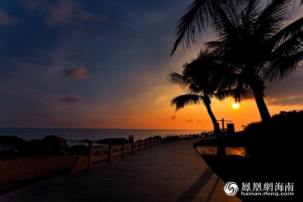 海南风景图夕阳
