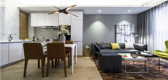 客厅餐厅开放式厨房设计