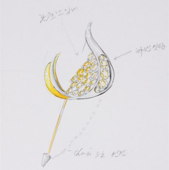 全景  herstory 韩饰品品牌集合店:揭秘饰品设计手稿 耳钉,戒指设计