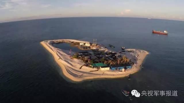 中国陆军最大舰艇国庆现身南海岛礁