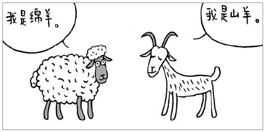 绵羊穿衣服图片简笔画