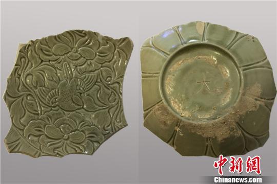 图为出土的雀绕牡丹纹钵宁波市文物考古研究所供图