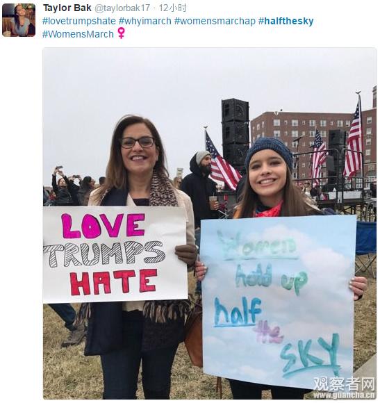 """百万民众游行反特朗普 ,""""妇女能顶半边天""""爆红-激流网"""