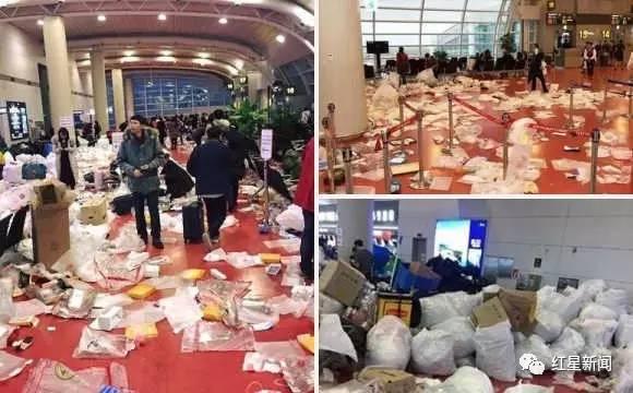 中国游客被指在韩国机场乱扔垃圾 亲历者反驳(图)