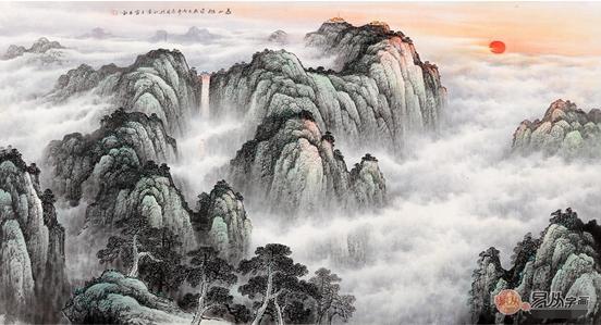 日山水墨画-宁国画泰山图:山峰雄奇伟岸、势不可挡的气势藉此描绘而得以尽情发