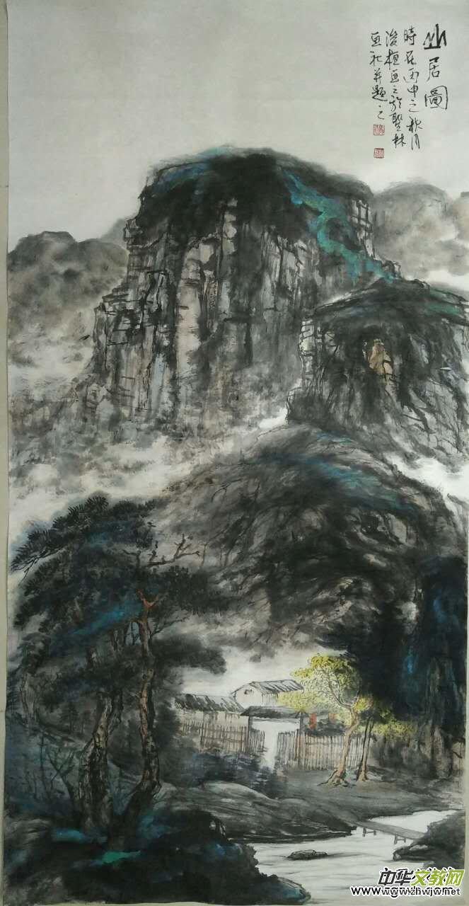 寄情山水真性在情趣高古写丹青——记山水画家马相魁先生