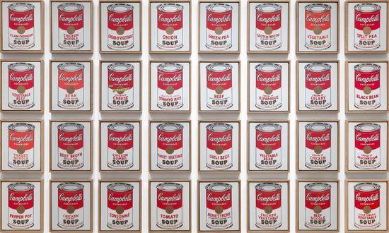 安迪·沃霍尔的《金汤宝罐头》