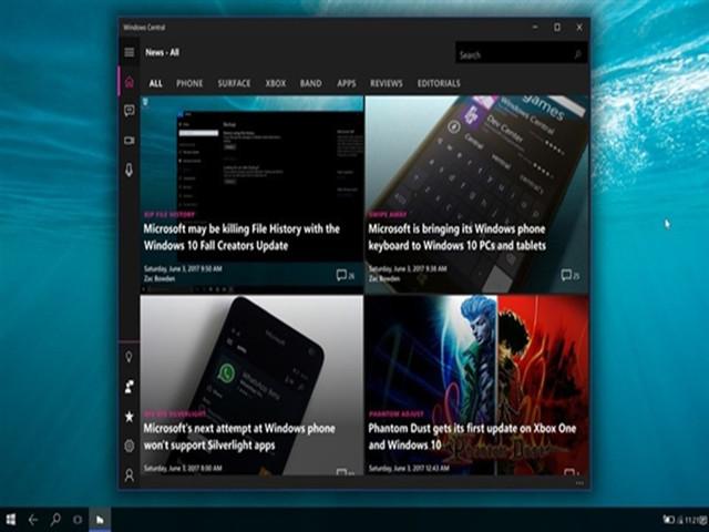 Win10 CShell界面曝光:跨平台统一UI体验