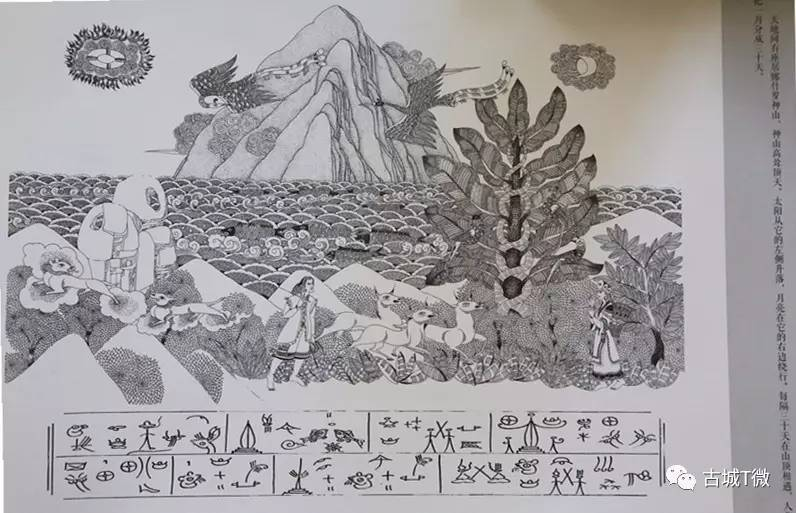 民族线描 手绘图