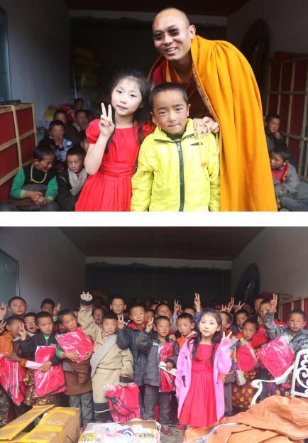 超级童星公益演出在红原县麦洼寺举行