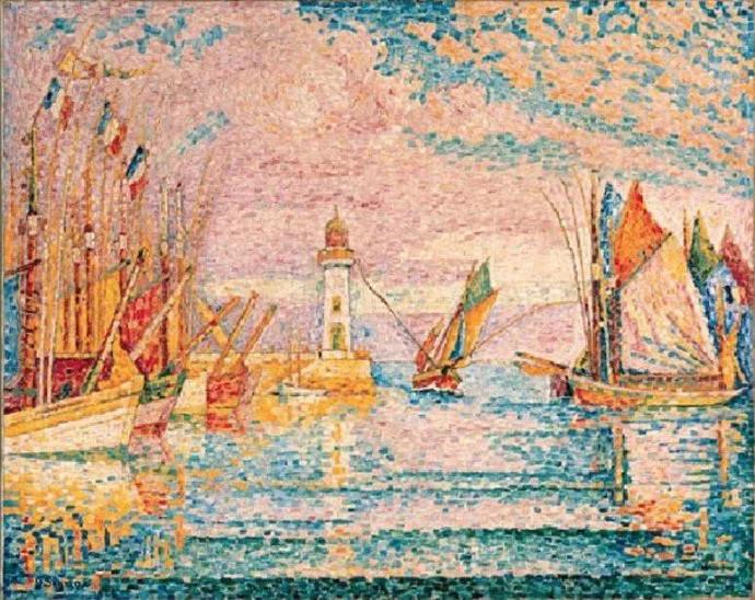法国点彩派开创者之一保罗·西涅克作品