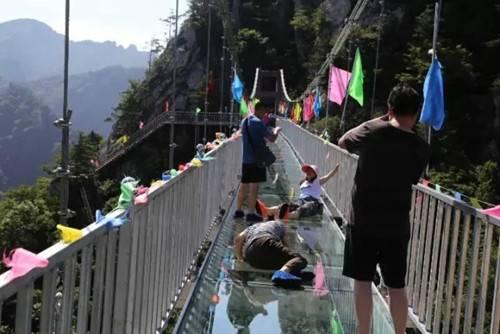 老界岭玻璃吊桥开放试营业有胆来战吗?