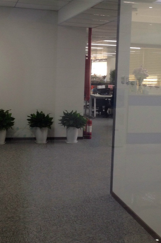 币行网办公区仍有很多工位被空置。 凤凰财经摄