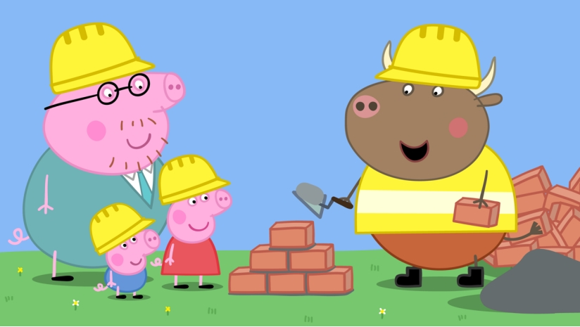 在第二集的《新房子》中,猪爸爸又现全能神技,亲自设计房屋并带着佩奇和乔治去体验修建的房子,还和新邻居狼先生一家亲密互动。   除了可爱的新伙伴,《小猪佩奇》第五季中还发生了很多精彩有趣的新故事:狐狸老板拥有一家应有尽有的商店,在这里佩奇和乔治用自己的零花钱为猪爷爷和猪奶奶购买了最用心的结婚纪念日礼物;猪爸爸成了学校的篮球教练,佩奇和朋友们多了一项体育技能 ;姑姑从国外送给了佩奇和乔治礼物,她俩先从争抢最后学会了分享.