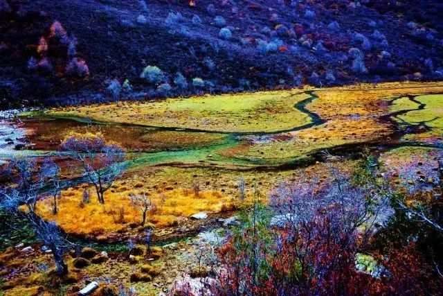七藏沟 沿路风景没有一丝一毫人为开发的痕迹, 行走在海拔将近4000米