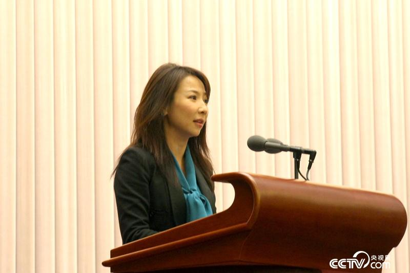 十九大代表、中央电视台驻北京记者站站长王小节。