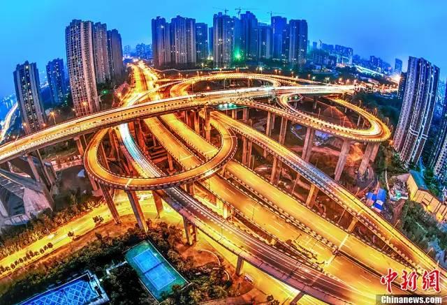 重庆又火了!绕晕司机的720度三层旋转立交桥,你见识过吗?