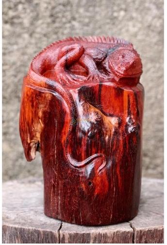公司开业为什么要送红木蜥蜴红木貔貅红木蟾蜍摆件