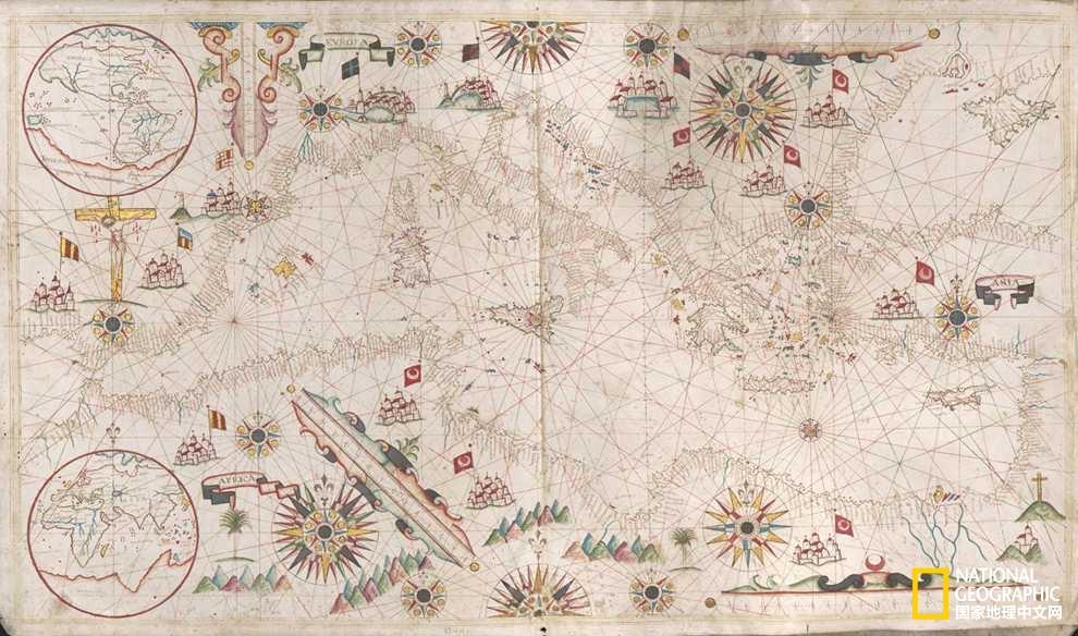 山川、怪物、罗盘玫瑰……古地图里你所不知道的玄机pic