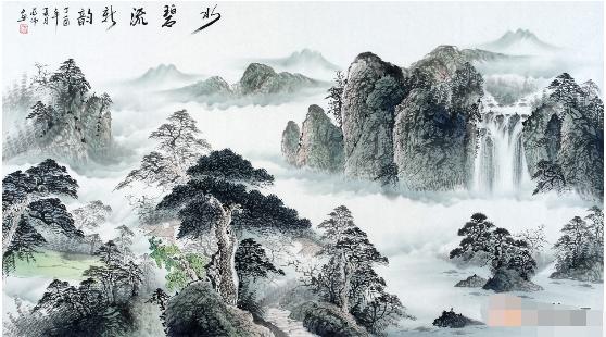 蒋伟字画精品山水画欣赏图片