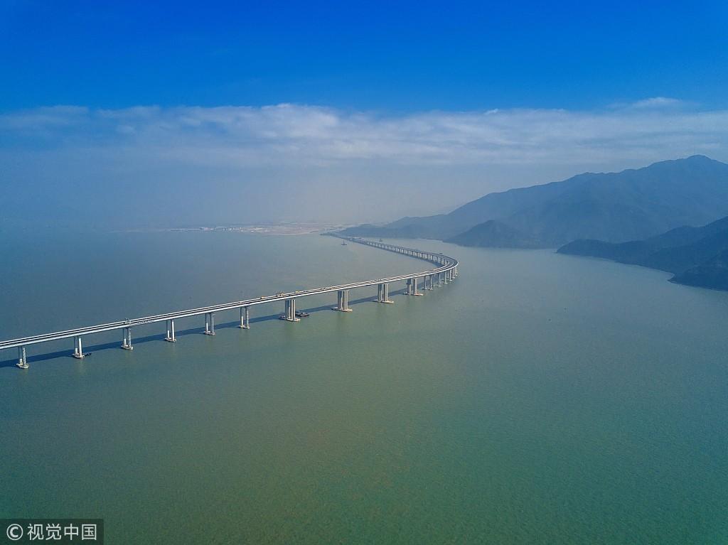 22日,香港,俯瞰港珠澳大桥香港段图/视觉中国-2018年,这些大事