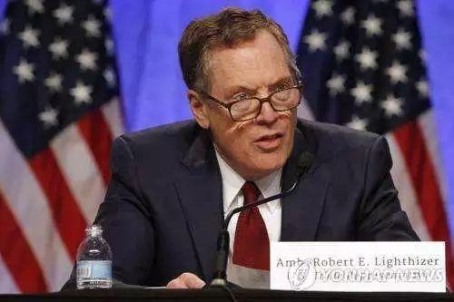 ▲美国贸易代表罗伯特·莱特希泽(韩联社)