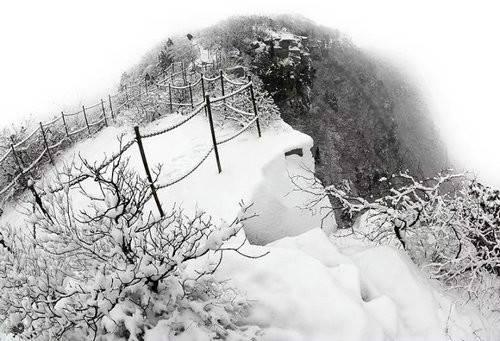 青天河雪景美到你心动