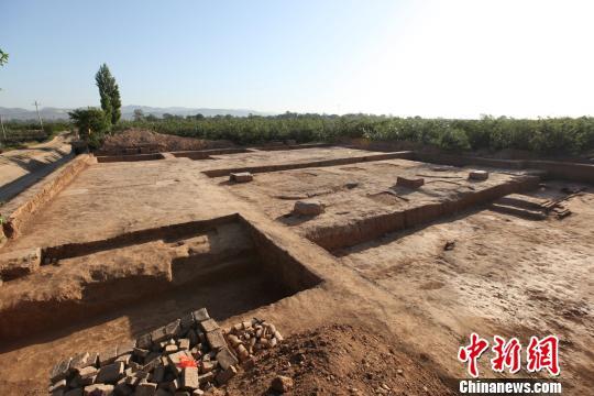 唐元陵下宫建筑基址。陕西省考古研究院