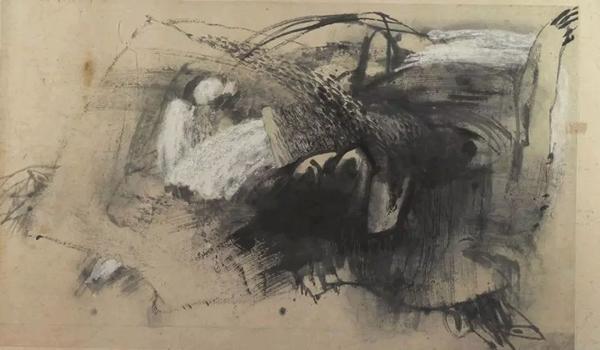 陈心懋作为风景的肖像纸本综合材料96×160cm 1988