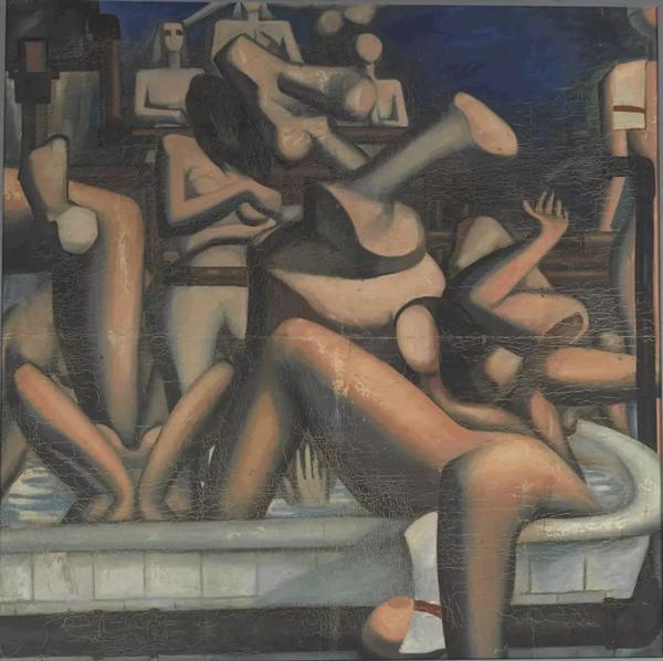 成其好幻影中兴国路的浴缸布面油画105×90cm 1986
