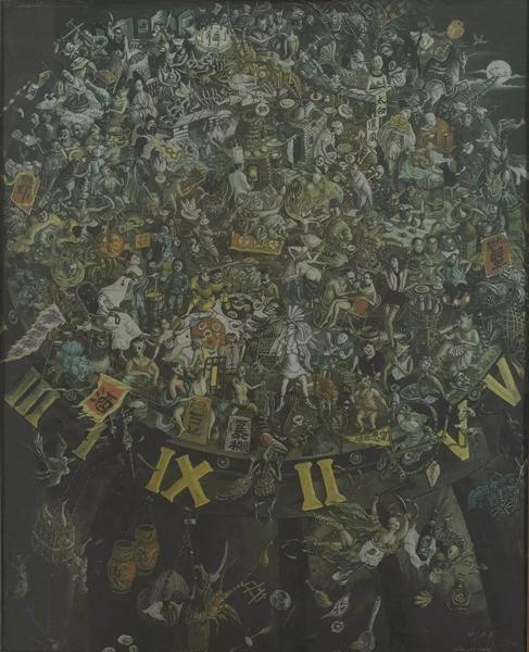 刘大鸿仲秋布面油画80.5×60cm 1989