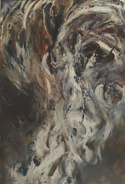 潘德海最后的审判纤维板油画140×100cm 1984