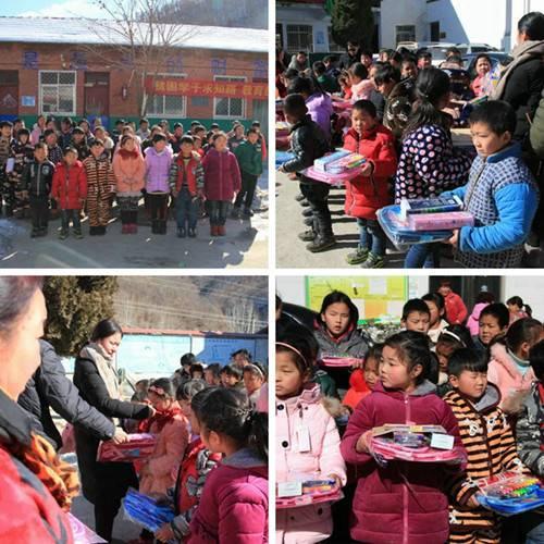 """天瑞旅游""""公益尧山•爱心助学""""走进贫困山区为孩子们送新年礼物"""