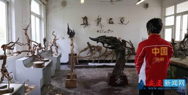 """安徽望江一体育老师:用小树根诠释""""奥林匹克"""""""
